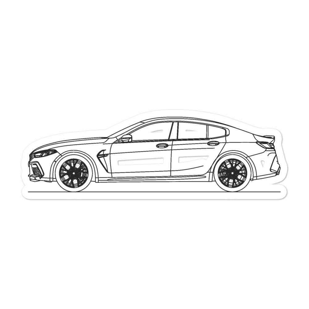 BMW F93 M8 Gran Coupé Sticker