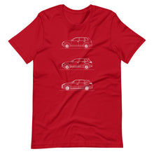 Load image into Gallery viewer, Porsche Cayenne Evolution T-shirt Red - Artlines Design