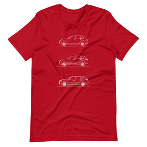Porsche Cayenne Evolution T-shirt Red - Artlines Design