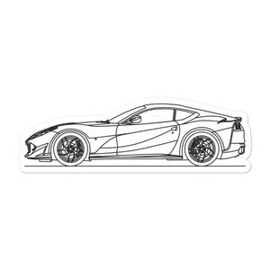 Ferrari 812 Superfast Sticker - Artlines Design