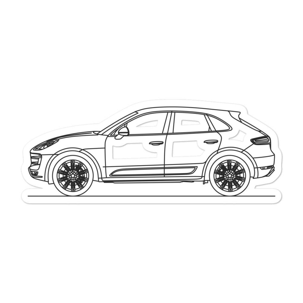 Porsche Macan Turbo 95B Sticker - Artlines Design