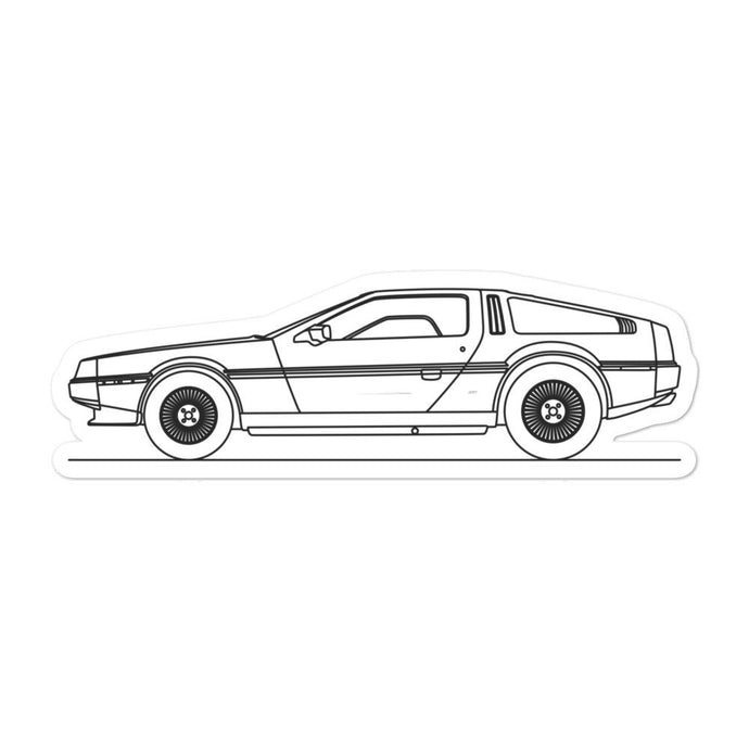 DeLorean DMC-12 Sticker - Artlines Design