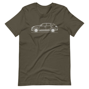 Porsche Macan Turbo 95B T-shirt Army - Artlines Design