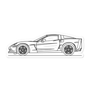 Chevrolet Corvette C6 Z06 Sticker - Artlines Design