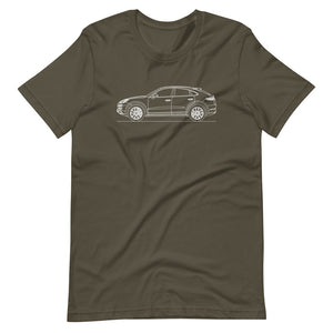 Porsche Cayenne E3 Turbo S Coupé T-shirt Army - Artlines Design
