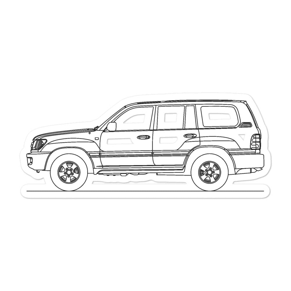 Toyota Land Cruiser J100 Sticker