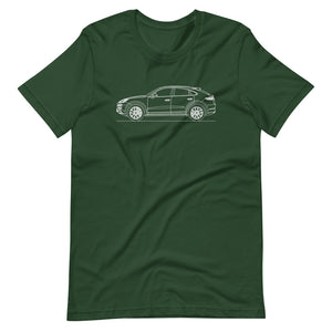 Porsche Cayenne E3 Turbo S Coupé T-shirt Forest - Artlines Design
