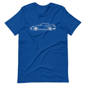 Porsche 911 991.1 Turbo T-shirt True Royal