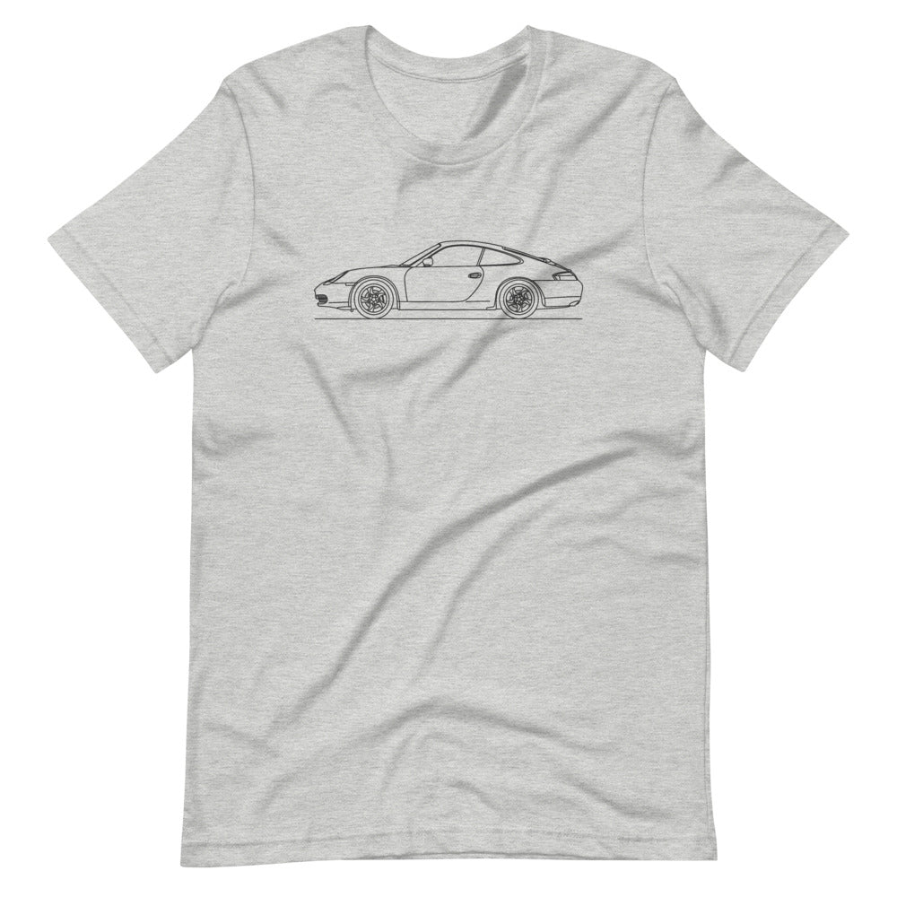 Porsche 911 996 T-shirt Athletic Heather - Artlines Design