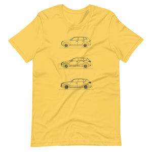 Porsche Cayenne Evolution T-shirt Yellow - Artlines Design