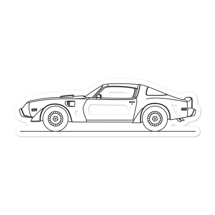 Pontiac Firebird Trans Am Sticker - Artlines Design