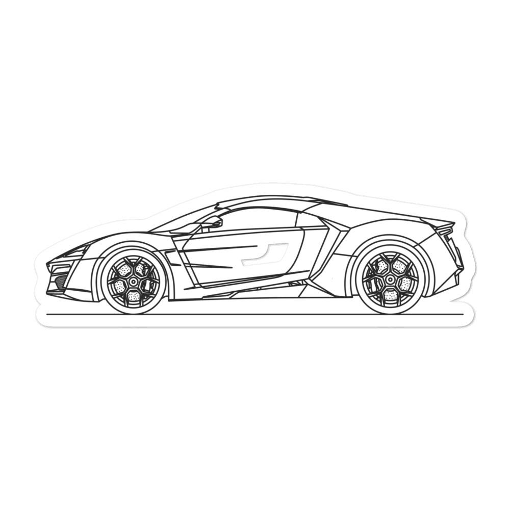 W Motors Lykan Hypersport Sticker