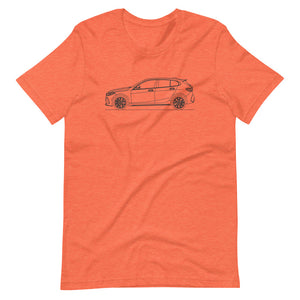 BMW F40 M135i T-shirt Heather Orange - Artlines Design