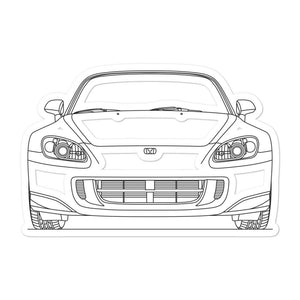 Honda S2000 Front Sticker - Artlines Design