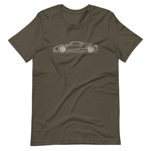 Porsche 918 Spyder T-shirt Army - Artlines Design
