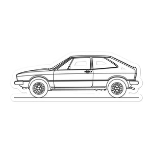 Volkswagen Scirocco I Sticker - Artlines Design