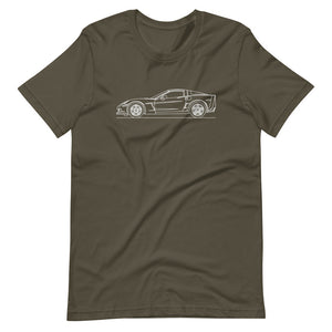 Chevrolet Corvette C6 Z06 T-shirt Army - Artlines Design