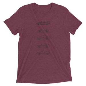 Group A Rally Cars Minimal T-shirt maroon.