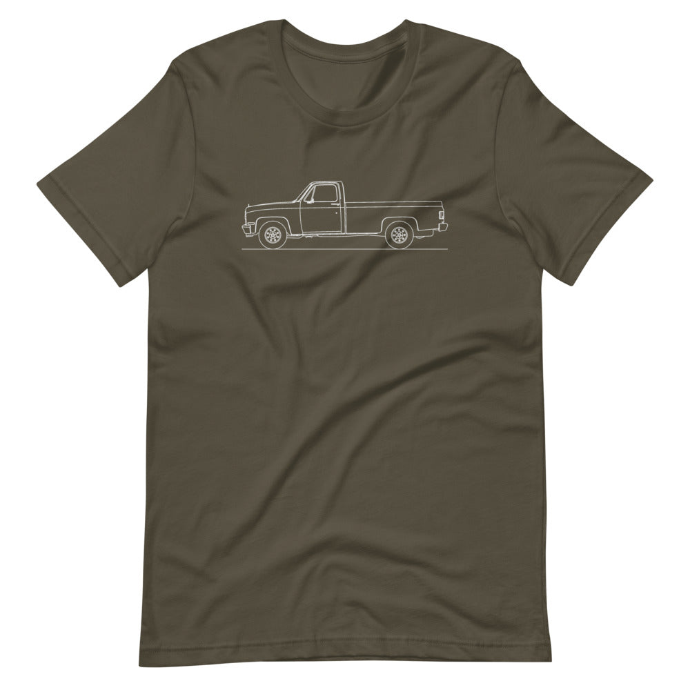 Chevrolet C/K 3rd Gen T-shirt Army - Artlines Design