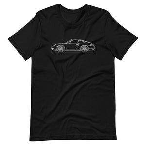Porsche 911 996 T-shirt Black - Artlines Design