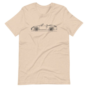 Porsche 911 991.1 Cabriolet T-shirt Heather Dust