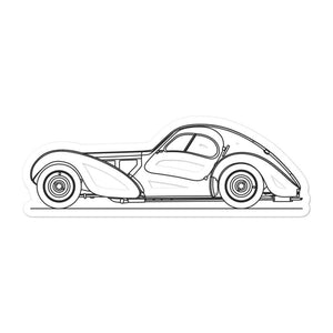 Bugatti Type 57SC Atlantic Sticker - Artlines Design