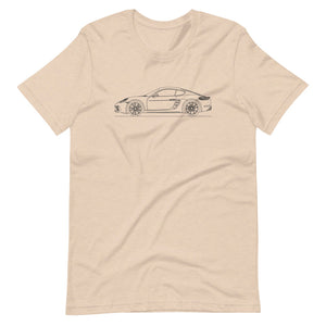 Porsche Cayman S 718 T-shirt Heather Dust - Artlines Design