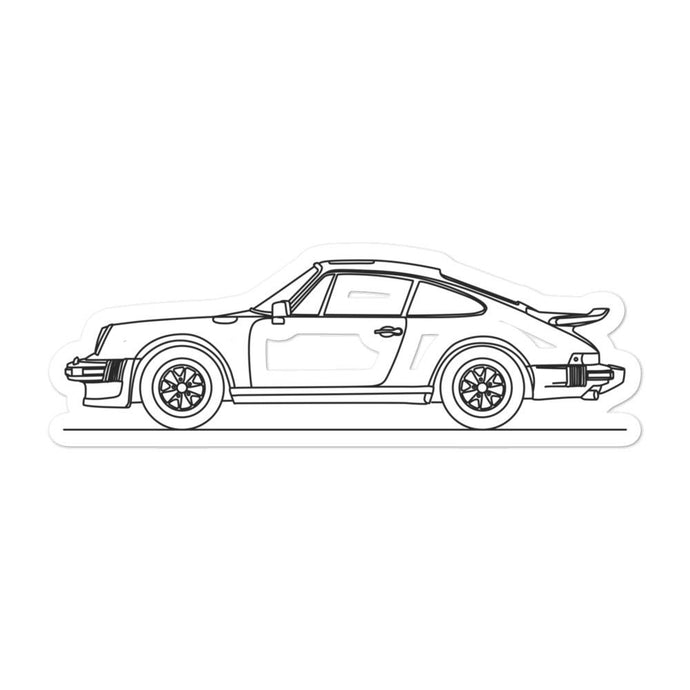 Porsche 911 930 Turbo Sticker - Artlines Design