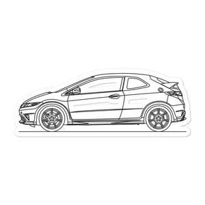 Honda Civic FN2 Type R Sticker - Artlines Design