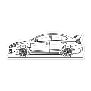 Subaru WRX STI IV Sticker - Artlines Design