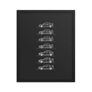 Subaru WRX Evolution Poster