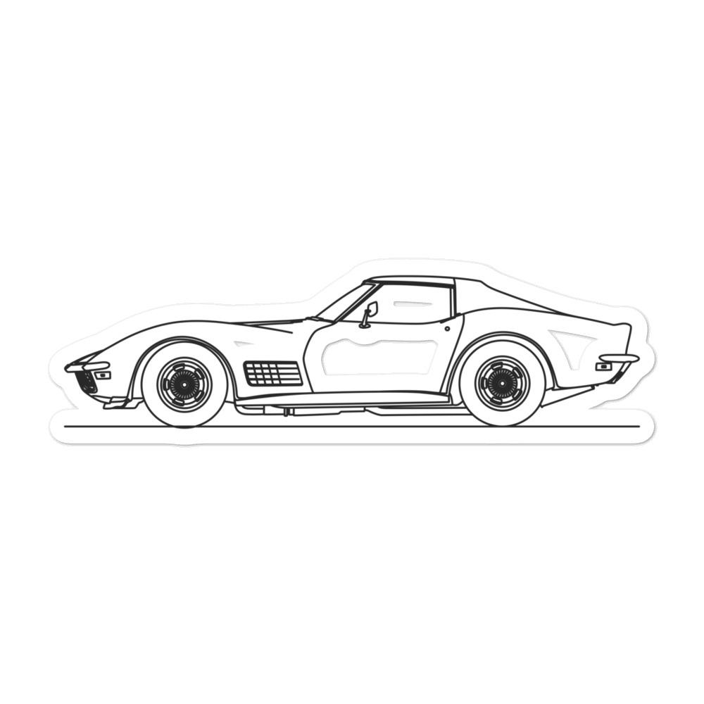 Chevrolet Corvette C3 Stingray Sticker - Artlines Design