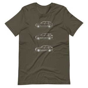 Porsche Cayenne Evolution T-shirt Army - Artlines Design