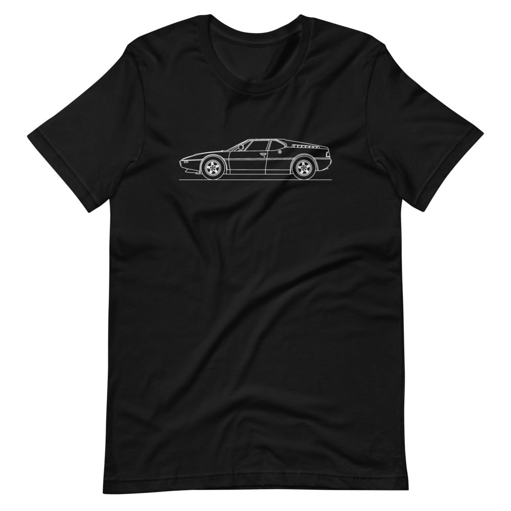 BMW E26 M1 T-shirt Black - Artlines Design