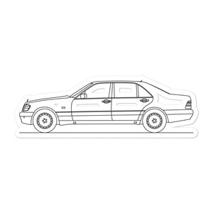 Mercedes-Benz W140 S 600 Sticker - Artlines Design