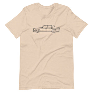 BMW E32 750iL T-shirt Heather Dust - Artlines Design
