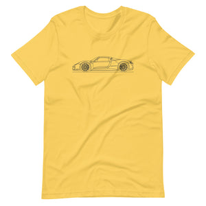 Porsche 918 Spyder T-shirt Yellow - Artlines Design