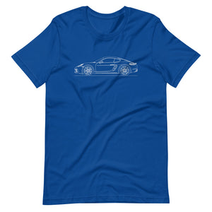 Porsche Cayman S 718 T-shirt True Royal - Artlines Design