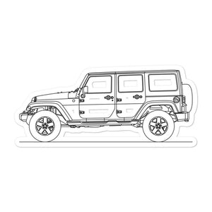 Jeep Wrangler JL Unlimited Sticker - Artlines Design