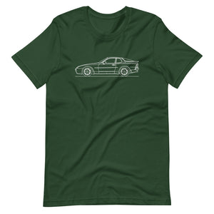 Porsche 944 Turbo S T-shirt Forest - Artlines Design