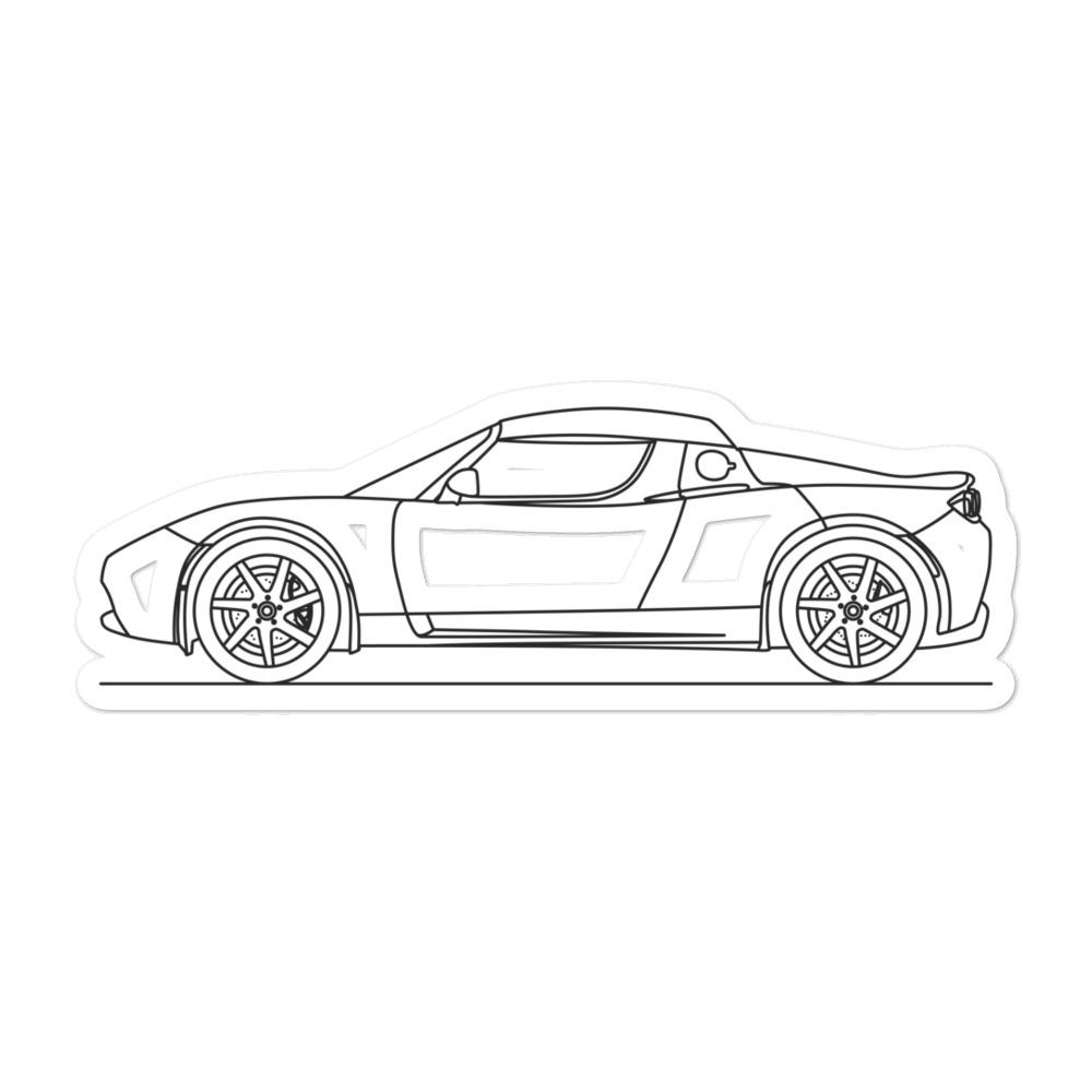 Tesla Roadster Sticker