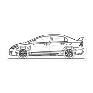 Honda Civic FD2 Type R Sticker - Artlines Design