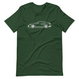 Porsche 911 991.1 Turbo T-shirt Forest