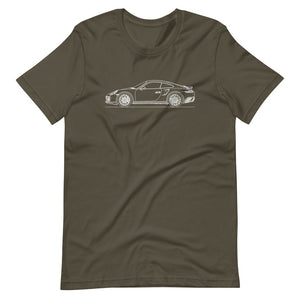 Porsche 911 991.1 Turbo T-shirt Army