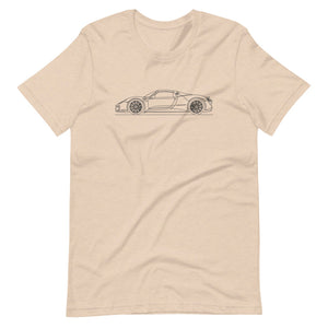 Porsche 918 Spyder T-shirt Heather Dust - Artlines Design