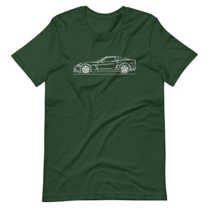 Chevrolet Corvette C6 Z06 T-shirt Forest - Artlines Design