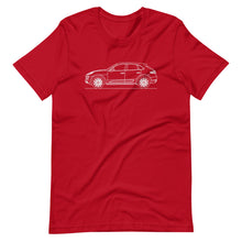 Load image into Gallery viewer, Porsche Macan Turbo 95B T-shirt Red - Artlines Design