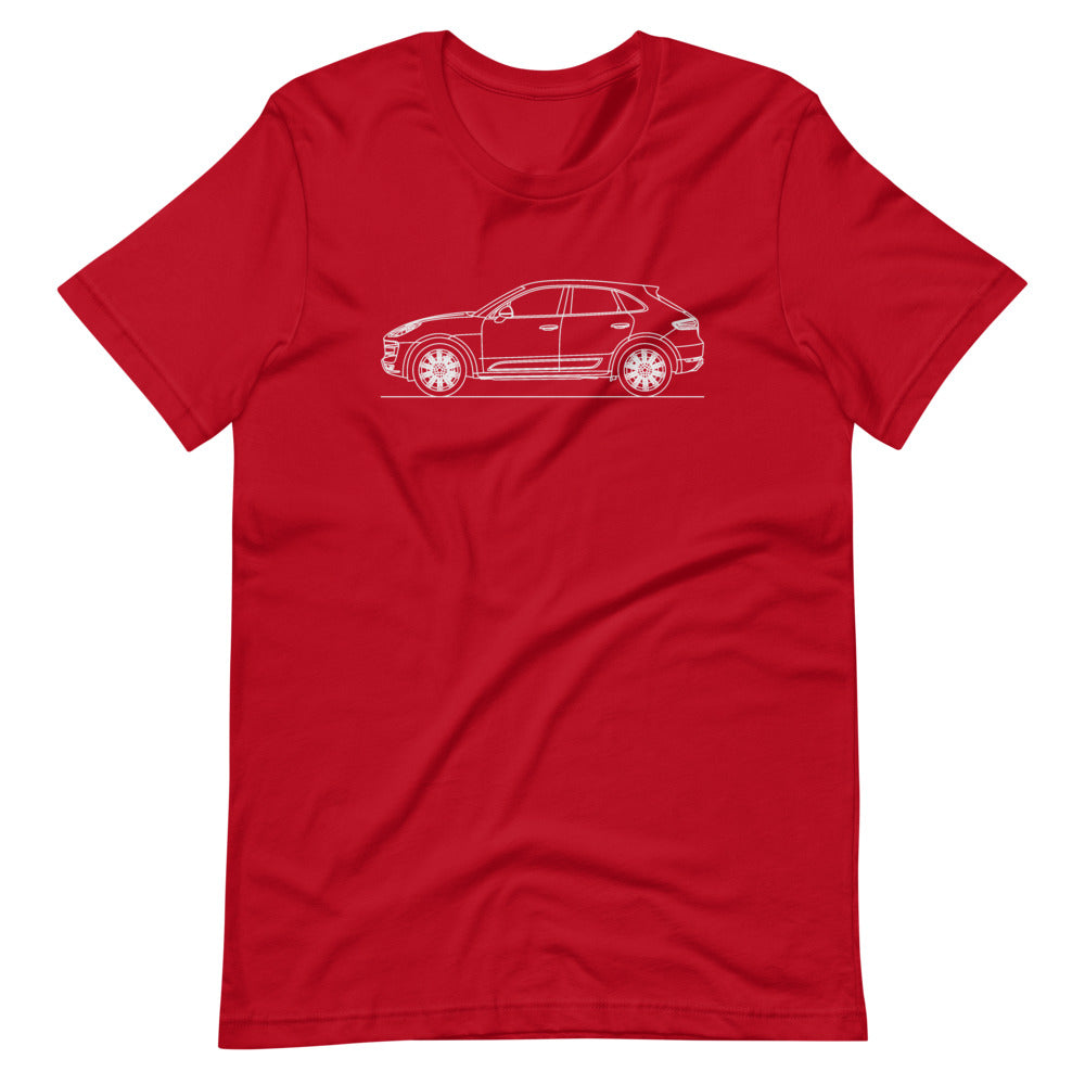 Porsche Macan Turbo 95B T-shirt Red - Artlines Design