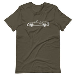 Porsche 911 991.2 Turbo Cabriolet T-shirt Army