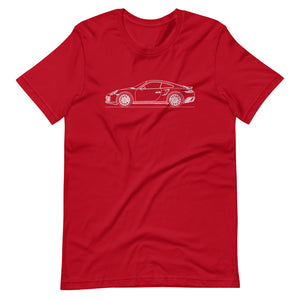 Porsche 911 991.1 Turbo T-shirt Red